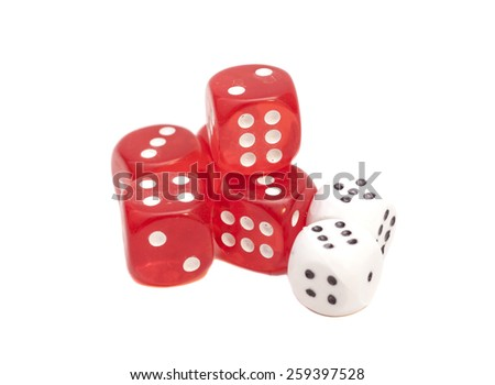 red and white dices #259397528