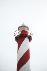 red and white lighthouse in hearts content, newfoundland and labrador
