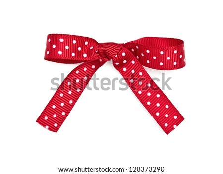 Pretty Polka Dot Ribbon Company Red And White Polka Dot Ribbon