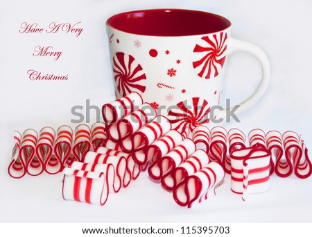 Red and white ribbon candy Christmas cheer/Red and white Peppermint Christmas Cheer/Red and white ribbon candy Christmas cheer