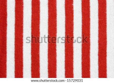 red and white striped fabric - plain knitting
