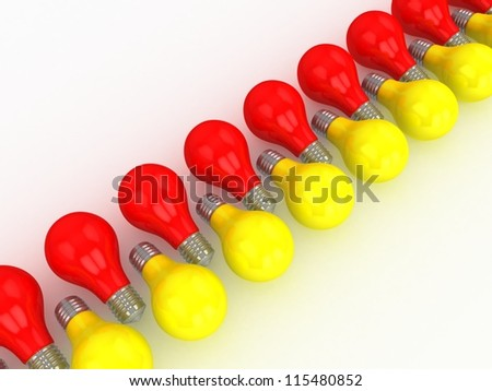 Red and yellow bulbs