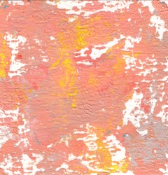 Red and yellow color abstract art background. Acrylic paste on watercolor paper.