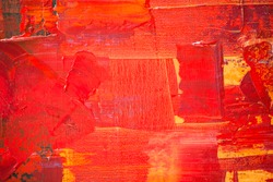 Red and yellow color oil painting texture. Abstract background