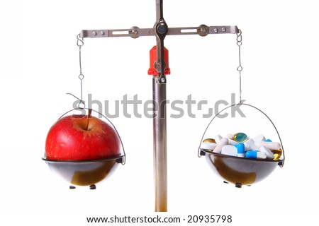 Red apple food supplements - balance