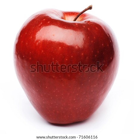 Red apple fruit - stock photo