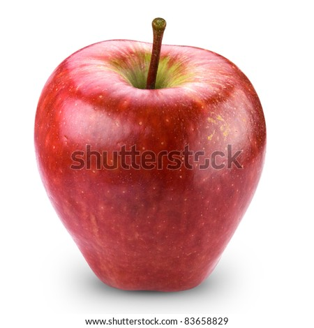 Red apple fruit + Clipping Path