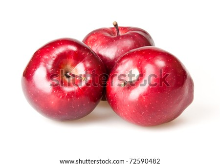 red apple isoalted on white