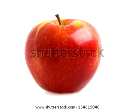 Red apple isolated on a white background #134615048