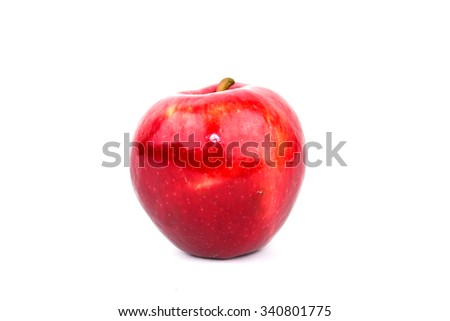 Red Apple Isolated on White #340801775
