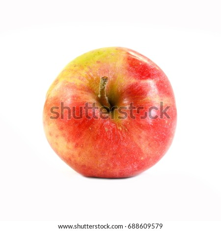 Red apple isolated on white. #688609579