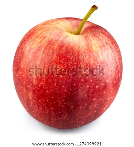 Red apple isolated on white. Apple Clipping Path