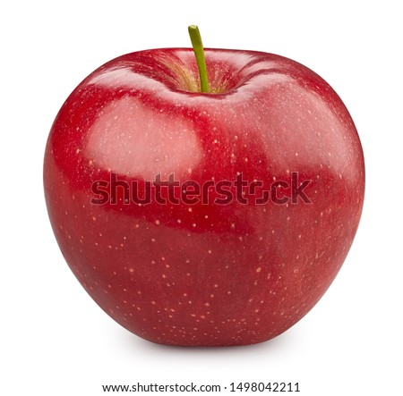 Red apple isolated on white. Apple Clipping Path. Apple professional studio macro shooting