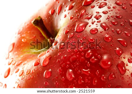 Red apple. Macro.
