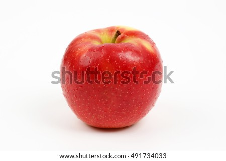 red apple on white background #491734033