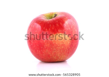 red apple on white background #565328905