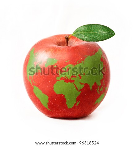 Free photos apple with a world map avopix red apple with green world map isolated on white background 96318524 gumiabroncs Gallery