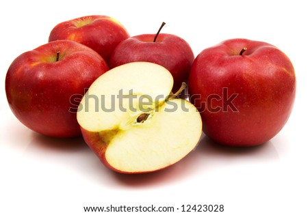 red apples isolated on the white background