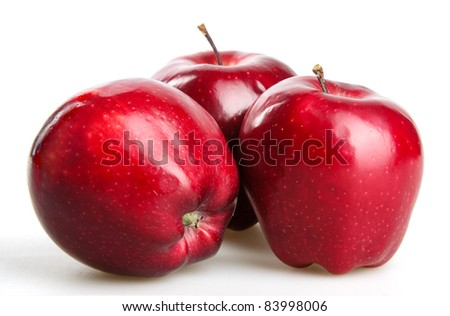 red apples isolated on white