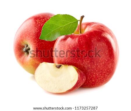 Red apples with slice