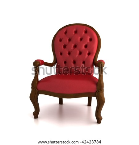 Red Armchair Stock Photo 42423784 : Shutterstock