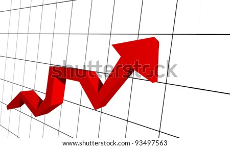 Red arrow on graph
