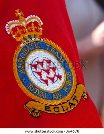 red arrows badge