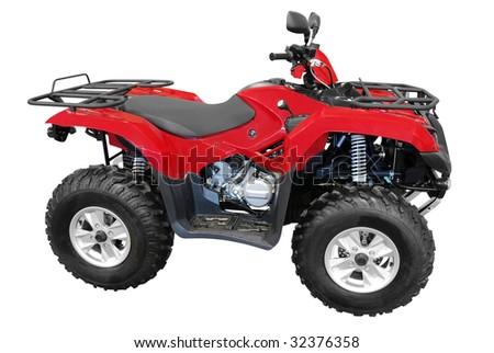 red atv quad-bike isolated Stock photo ©