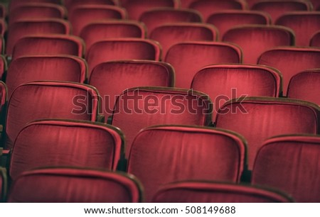 Red auditorium chairs #508149688
