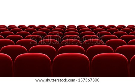 red auditorium chairs isolated