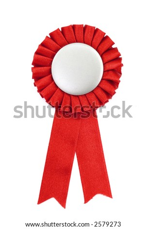 red award ribbons badge with white background