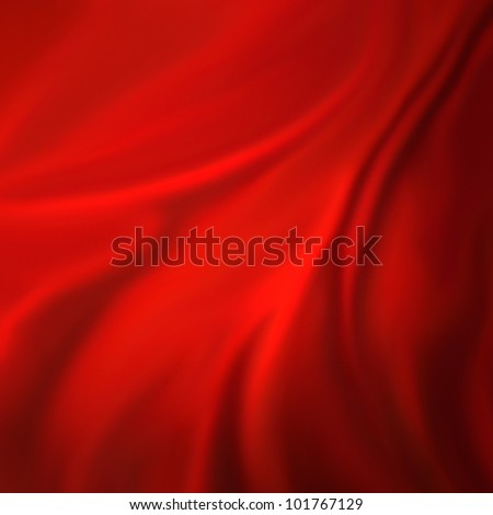 red background abstract cloth or liquid wave illustration of wavy folds of silk texture satin or velvet material or red luxurious Christmas background wallpaper design of elegant curves red material