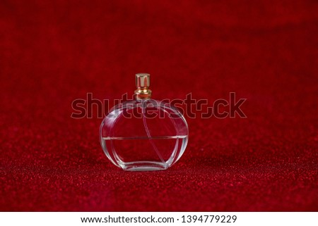 Red background and fragrance for fragrance Shopping concept and trading #1394779229