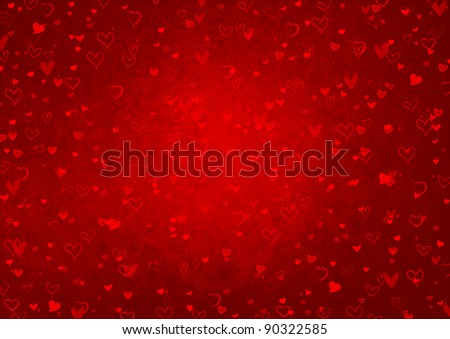 red background for valentines day - stock photo