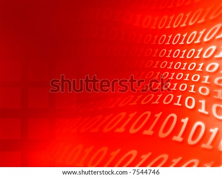 Red background, great for internet security, technology, science, purposes.