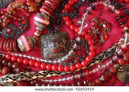 Red background - Jewelry