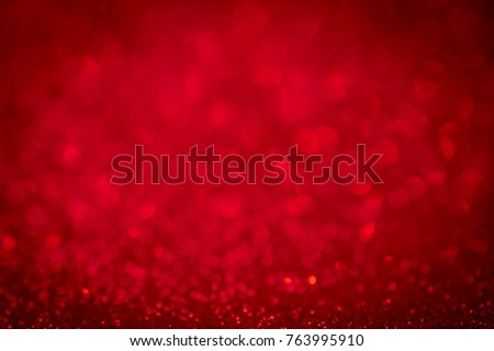 Red background light christmas holiday pattern. Abstract decoration bokeh gllitter xmas and new year or valentine festive. - Shutterstock ID 763995910