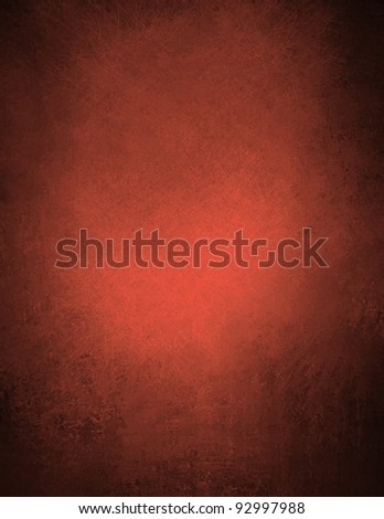red background or red paper with bright spot and vintage grunge background texture on black background, for red Christmas background or valentine's day backdrop