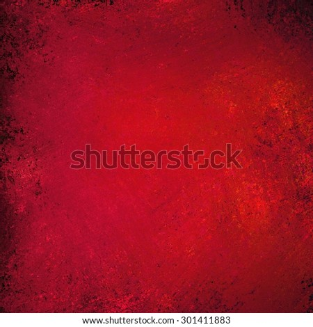 red background texture paper, faint rustic black vignette grunge border paint design, solid red Christmas color background, shiny metal painted background illustration