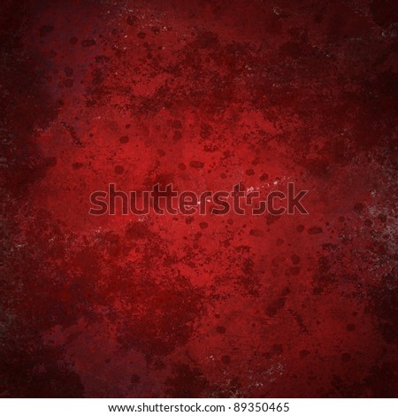 red background with blotchy stained vintage grunge texture and soft lighting design layout with copy space for Christmas or cover