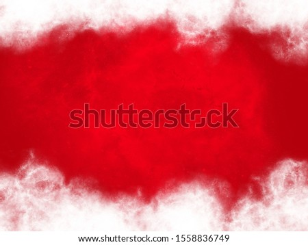 red background with copyspace with snow