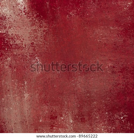 red background with grunge texture and faded white smeary paint design for Christmas or Valentine's Day or cover