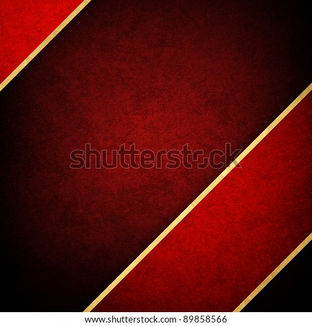 red background with strip