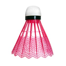 Red badminton shuttlecock isolated on white