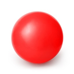 Red ball isolated on a White background with clipping path