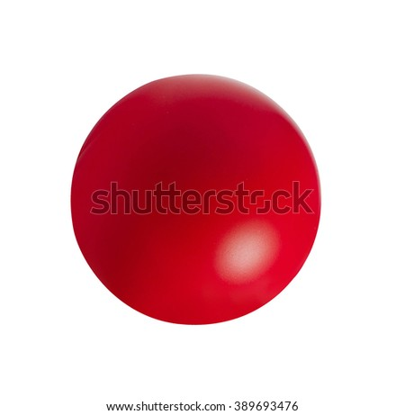 red ball isolated on white #389693476