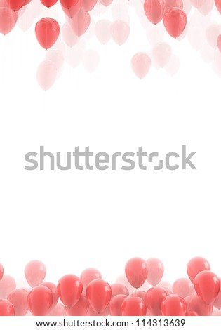 Red ballons backgrounds