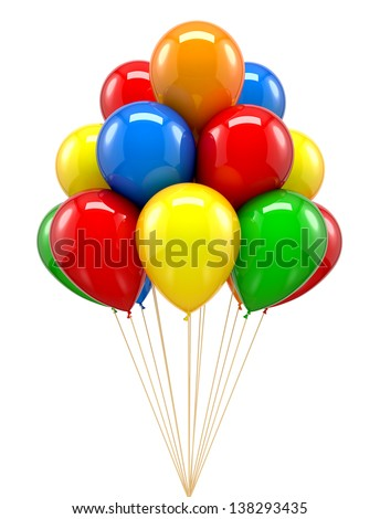 Red balloon for party birthday colourful colour