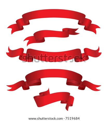 Red Banners (also available vector version of this image in our gallery)