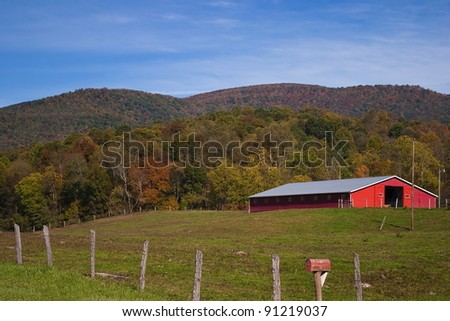 Red Barn Country Scene